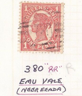 *QUEENSLAND NUMERAL POSTMARKS.No 380.Type 2a.EMU VALE.*