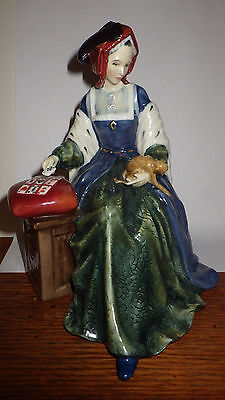 Royal Doulton RARE figurine Catherine of Aragon HN 3233 Book Value $ 825 US