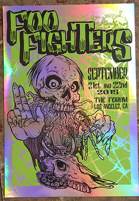Foo Fighters Los Angeles Forum Poster 2015 Sonic Highways Tour LE35 FOIL Variant
