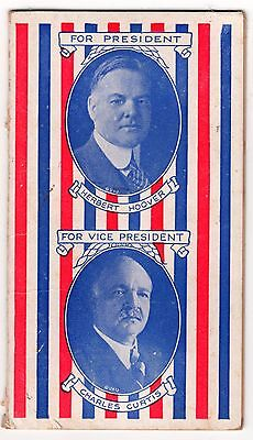 1928 HOOVER & Curtis for President & VP Republican Party SEWING KIT + 15 Needles