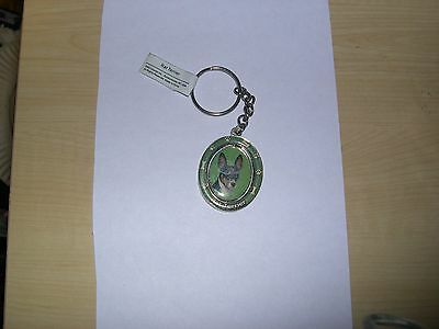 Rat Terrier Dog Spinning Key Chain ---  its really is cute - new