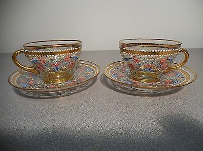 Two Vintage Hand Painted Pauly & C Cup & Saucer