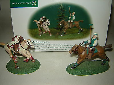 Dept 56 Dickens Village - Polo Players - Set of 2 - NIB