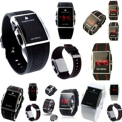 LED digital time,date Silicone Round,Square etc Watch Wristwatch Men,Ladies