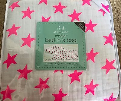 Brand New Aden + Anais Toddler Bed Ina Bag Fluro Pink