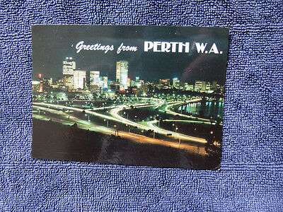 Vintage Australian Postcard. Greetings From  Perth