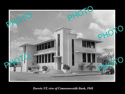Old Large Historic Photo Of Darwin Northern Territory, Commonwealth Bank 1948