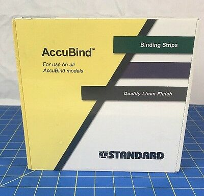 """Accubind Binding Strips Standard 35mm White Bookbinding Size  D 1 3/8"""" NEW"""