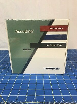 """Accubind Binding Strips Standard 40mm White Bookbinding Size F 1 9/16"""" NEW"""