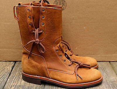 Vintage Mens Willis Geiger  Leather Mosquito Boots Shoes 10 D Canada Deadstock