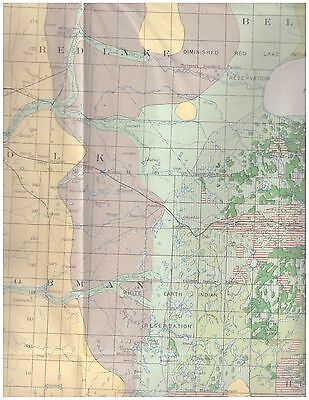 Minnesota Pine Regions 1899 color map Indian Reservations