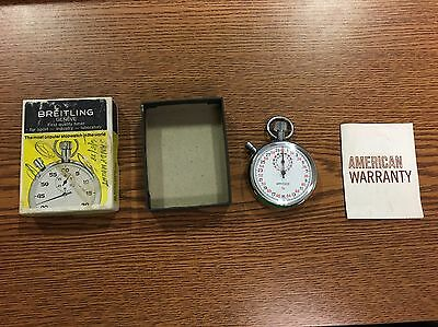 Vintage BREITLING WAKMANN STOPWATCH In box With Papers Made In Swiss