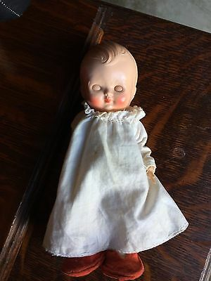 """Pedigree Doll Hard Plastic Small Character Doll """"wee Willie Winky"""""""