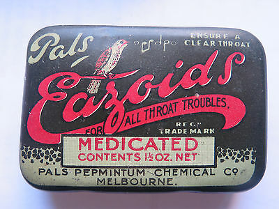 PALS EAZOIDS FOR ALL THROAT PROBLEMS MEDICATED MELBOURNE AUSTRALIA c1930s