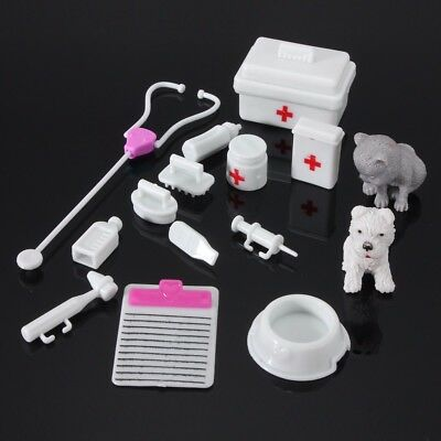 14Pcs Mini Medical Equipment Toys For Barbie Fashion Doll Accessories Set White