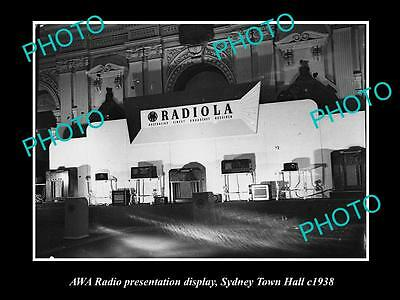 Old Large Historic Photo Of The Awa Radio Sydney Town Halll Show Stand, 1938