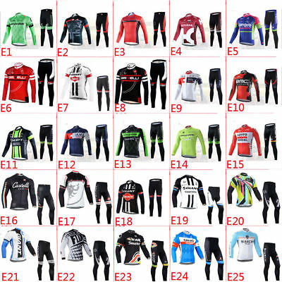Winter Fit Outdoor Thermal Fleece man long sleeve cycling jersey sets Pants US1C