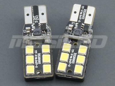 5 bombillas LED Canbus T10 W5W 6 SMD 2835 color blanco puro 5000K