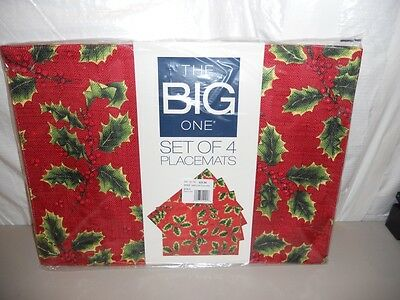 NWT Kohls The Big One Christmas placemats set of 4