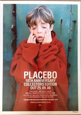 Placebo - Rare Original Promo Poster 13 x 18 Inches - Limited Numbered Edition