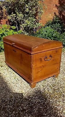 Antique Pine Trunk, Chest, Coffee table, Blanket Box, Storage Box