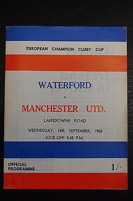 Waterford  V Manchester United  European Cup  1968/69   George Best