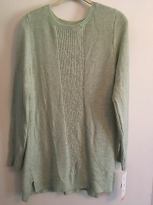 NWT Liz Lang Maternity Scoop Neck Knit Sweater Woman's Size S/P Color Mint Green