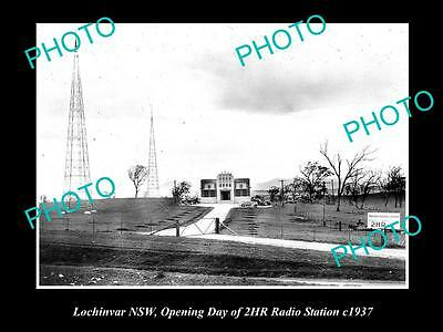 Old Large Historic Photo Of Lochinvar Nsw, Opening Of The 2Hr Radio Station 1937