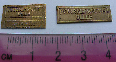 Model Railway Brass Nameplate Bournemouth Belle (2)