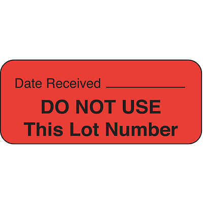 Roll Products Label, 5/8 In. H, 1-11/16 In. W, PK1000 141453