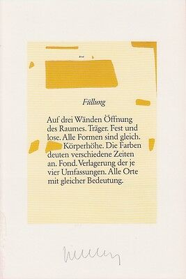 WALTHER - Franz Erhard Walther - original signiert - signed - 21a