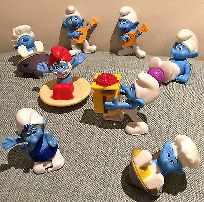 SMURF LOT - McDonald's Happy Meal Toy Collection of Smurfs -  FREE Postage