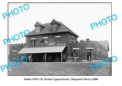 OLD LARGE PHOTO, DUBBO NSW, SERISERS GENERAL STORE, MACQUARIE STREET c1880