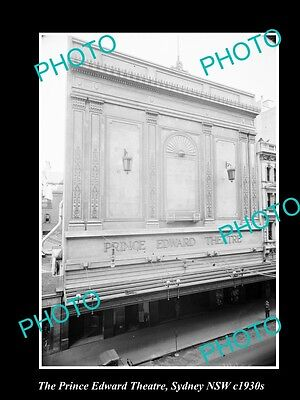 OLD LARGE HISTORIC PHOTO OF THE PRINCE EDWARD THEATRE, SYDNEY NSW c1930s