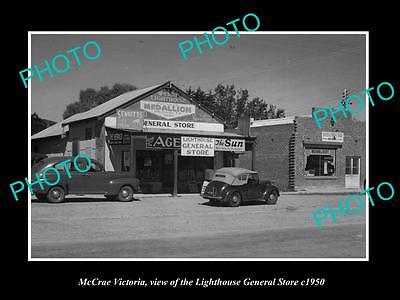 OLD LARGE HISTORIC PHOTO OF McCRAE VICTORIA, THE LIGHTHOUSE GENERAL STORE c1950