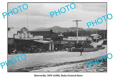 OLD LARGE PHOTO, BOWRAVILLE NSW, TUCKS GENERAL STORE c1930