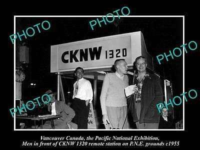 OLD HISTORIC PHOTO OF VANCOUVER CANADA, THE CKNW RADIO STATION AT PNE c1955
