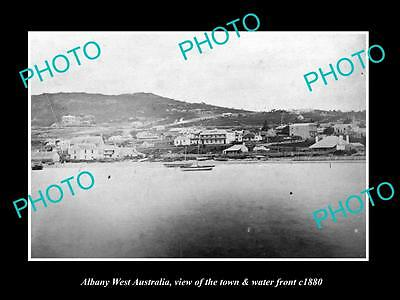 OLD LARGE HISTORIC PHOTO OF ALBANY WEST AUSTRALIA, TOWN & WATERFRONT c1880