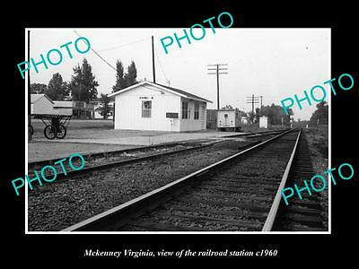OLD LARGE HISTORIC PHOTO OF MCKENNEY VIRGINIA, THE RAILROAD STATION c1960
