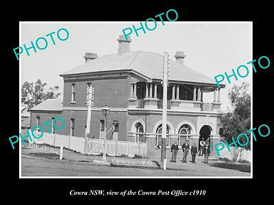 OLD LARGE HISTORIC PHOTO OF COWRA NSW, VIEW OF THE COWRA POST OFFICE c1910