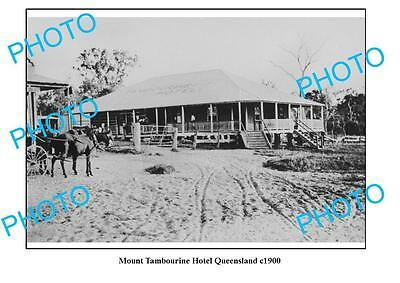 OLD LARGE PHOTO, MOUNT TAMBOURINE QUEENSLAND, OLD HOTEL c1900