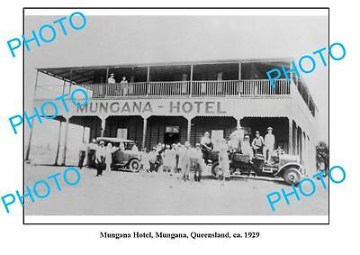 OLD LARGE PHOTO, MUNGANA QUEENSLAND, OLD HOTEL c1929
