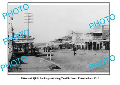 OLD LARGE PHOTO, PITTSWORTH QUEENSLAND, VIEW OF YANDILLA STREET c1910
