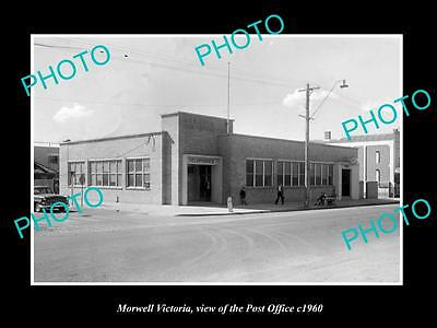 OLD LARGE HISTORIC PHOTO OF MORWELL VICTORIA, VIEW OF THE POST OFFICE c1960