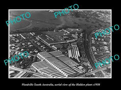 OLD HISTORIC PHOTO OF WOODVILLE SOUTH AUSTRALIA, THE HOLDEN MOTORS PLANT c1950