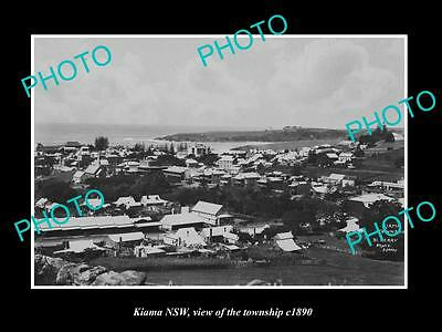 OLD LARGE HISTORIC PHOTO OF KIAMA NSW, VIEW OF THE TOWNSHIP c1890