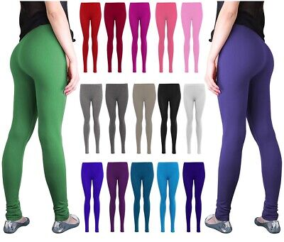 UK Thick Cotton Viscose Full Length Leggings All Colours and Sizes ctnlg