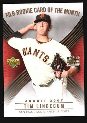 Tim Lincecum Mint Giants Glossy Rookie Card Rc Sp 2007 Ud Upper Deck Ud Rom
