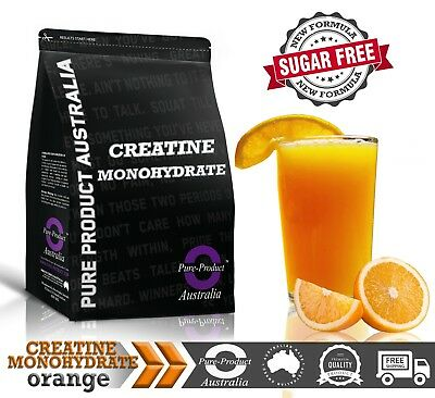 1KG PURE CREATINE MONOHYDRATE HPLC TESTED ORANGE  Flavour