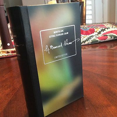 Montblanc George Bernard Shaw Limited Edition BOOK BOX  ( no pen included )